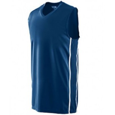1180 - Adult Wicking Polyester Sleeveless Jersey with Mesh Inserts