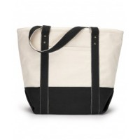 1211 - Seaside Zippered Cotton Tote