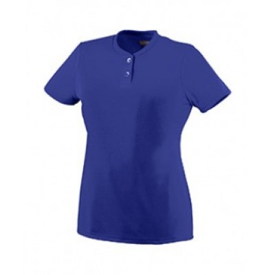 1213 - Girls Wicking Two-Button Jersey