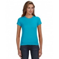 1441 - Ladies' 1x1 Baby Rib Scoop T-Shirt