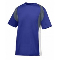 1515 - Adult Wicking Poly/Span Short-Sleeve Jersey with Contrast Inserts