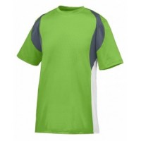 1516 - Youth Wicking Poly/Span Short-Sleeve Jersey with Contrast Inserts