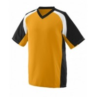1536 - Youth Wicking Polyester V-Neck Short-Sleeve Jersey with Inserts