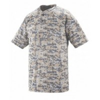 1556 - Youth Polyester Digi Print Two-Button Short-Sleeve Jersey