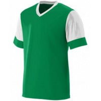 1600 - Adult Wicking Polyester V-Neck Jersey with Contrast Sleeves