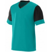 1601 - Youth Wicking Polyester V-Neck Jersey with Contrast Sleeves