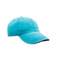 166 - Adult Solid Low-Profile Sandwich Trim Twill Cap
