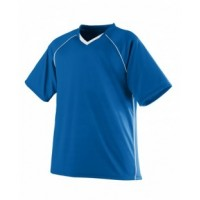 214 - Adult Wicking Polyester V-Neck Jersey with Contrast Piping