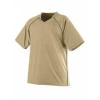 215 - Youth Wicking Polyester V-Neck Jersey with Contrast Piping