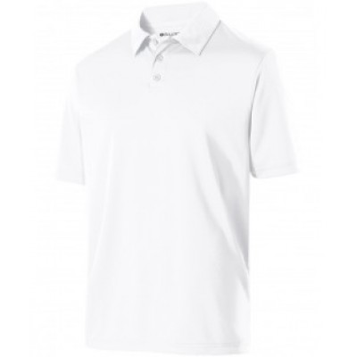 222519 - Adult Polyester Textured Stripe Shift Polo
