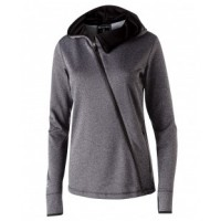 229360 - Ladies' Polyester Fleece Full Zip Hooded Artillery Angled Jacket