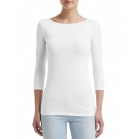 2455L - Ladies' Stretch 3/4 Sleeve T-Shirt
