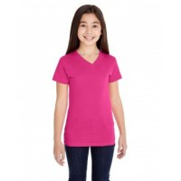 2607 - Girls' V-Neck Fine Jersey T-Shirt
