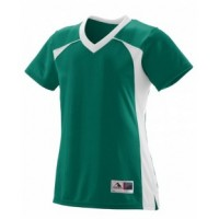 263 - Girls Polyester Mesh V-Neck Short-Sleeve Jersey