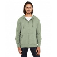 321Z - Unisex Triblend French Terry Full-Zip