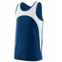 340 - Adult Wicking Polyester Sleeveless Jersey with Contrast Inserts