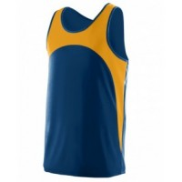 341 - Youth Wicking Polyester Sleeveless Jersey with Contrast Inserts