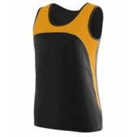 342 - Ladies Wicking Polyester Sleeveless Jersey with Contrast Inserts