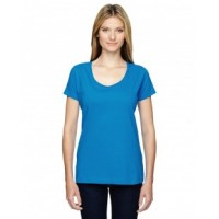3504 - Ladies' Scoop Neck Fine Jersey T-Shirt