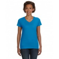 3507 - Ladies' V-Neck Fine Jersey T-Shirt