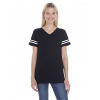 3537 - Ladies' Football Fine Jersey T-Shirt