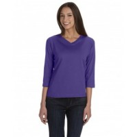 3577 - Ladies' 3/4-Sleeve Premium Jersey T-Shirt
