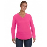 3761 - Ladies' V-Neck French Terry Pullover