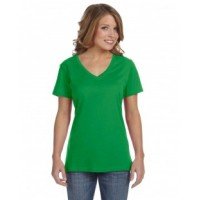 392A - Ladies' Featherweight V-Neck T-Shirt