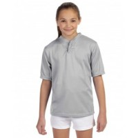 427 - Youth Wicking Two-Button Jersey