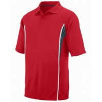 5023 - Adult Wicking Polyester Mesh Sport Shirt with Contrast Inserts