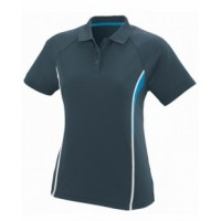 5024 - Ladies Wicking Polyester Mesh Sport Shirt with Contrast Inserts