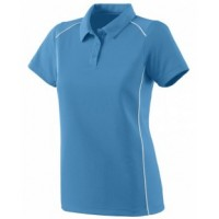 5092 - Ladies Wicking Polyester Sport Shirt with Contrast Piping