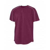 586 - Youth Wicking Two-Button Baseball Jersey