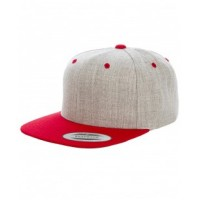 6089MT - Adult 6-Panel Structured Flat Visor Classic Two-Tone Snapback