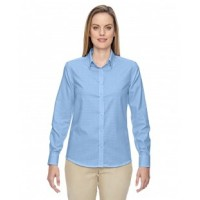 77043 - Ladies' Paramount Wrinkle-Resistant Cotton Blend Twill Checkered Shirt