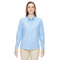 77044 - Ladies' Align Wrinkle-Resistant Cotton Blend Dobby Vertical Striped Shirt