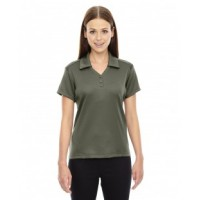 78803 - Ladies' Exhilarate Coffee Charcoal Performance Polo with Back Pocket