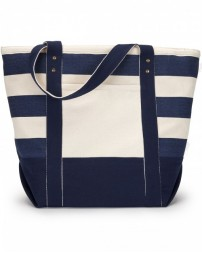 1211 Seaside Zippered Cotton Tote - Gemline Tote Bags