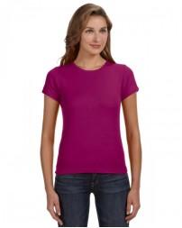 1441 Ladies' 1x1 Baby Rib Scoop T-Shirt - Anvil Womens T Shirts