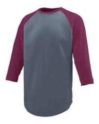 1505 Adult Wicking Polyester 3/4 Raglan Sleeve T-Shirt - Augusta Drop Ship Raglan T Shirts