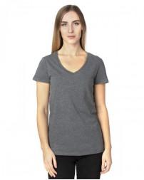 200RV Ladies' Ultimate V-Neck T-Shirt - Threadfast Apparel Womens T Shirts