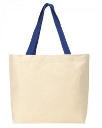 220 Colored Handle Tote - Gemline Tote Bags