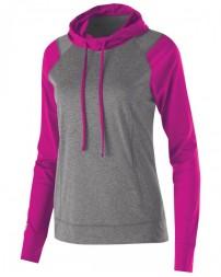 222739 Ladies' Dry-Excel™ Echo Performance Polyester Knit Training Hoodie - Holloway Hoodies Sweatshirts