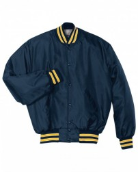 229140 Adult Polyester Full Snap Heritage Jacket - Holloway Jackets