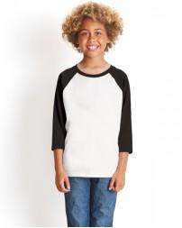 3352 Youth CVC 3/4-Sleeve Raglan - Next Level Raglan T Shirts