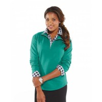 Ladies' French Terry 1/4-Zip Pullover
