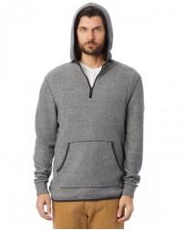 Adult Quarter Zip Fleece Hooded Sweatshirt