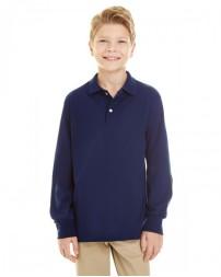 437YL Youth SpotShield™ Long-Sleeve Jersey Polo - Jerzees Polo Shirts