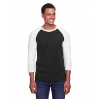Adult  5.2 oz., Premium Blend Ring-Spun Raglan Baseball T-Shirt