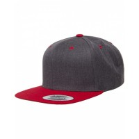 Adult 6-Panel Structured Flat Visor Classic Two-Tone Snapback